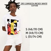 Baju Branded Wanita - ZARA 11 CAMISETA MICKEY WHITE