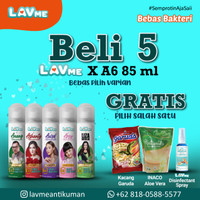 Lavme 6 In 1 Hand & Body Spray Anti Virus 85ml - 5 pcs