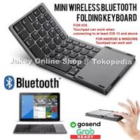 033 Foldable Wireless Keyboard & Touchpad Bluetooth Lipat Mac iPad hp