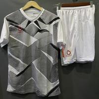 Baju Olahraga Setelan Futsal Sepak Bola - Putih, M