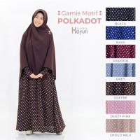Gamis Polkadot by Hijab Hayuri / Dress Motif Polkadot (Gamis Only) - Coffee, S