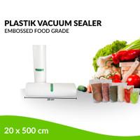 Plastik Refill Vacuum Sealer Embossed 1 Roll / 20 x 500 cm