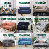 Cover Sofa Bed Import Elastis 1 2 3 Seater | Sarung Penutup SofaBed