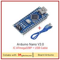 Arduino Nano V3 IC ATmega328P versi OEM + USB Cable