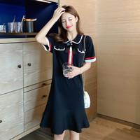 Midi Dress Korea Sexy Sweet Bow Import