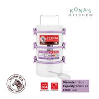 Zebra Food Carrier 12x3 Smart Lock II (150235) / Rantang Makanan SS