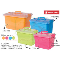 Box Container Favourite 10 Ltr Medium (Dengan Handle)