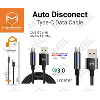 Mcdodo Kabel Data Type C Auto Power Off QC3.0 Fast Charging CA-617
