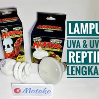Paket Lampu UVA dan Lampu UVB Nomoypet terfokus untuk kesehatan hewan