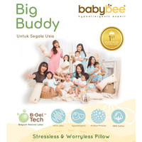 Babybee Big Buddy Pillow With Case|Bantal Bayi