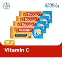 Redoxon Vitamin C + Zinc Rasa Jeruk 10 Tablet x 4 unit