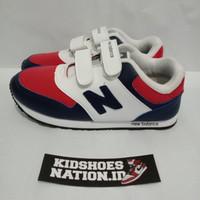 sepatu running anak navy white red perekat