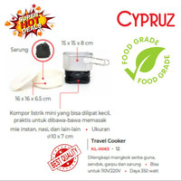 Kompor CYPRUZ Travel Cooker KL-0063 Alat Masak Portable bagus