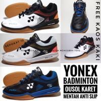 sepatu yonex badminton sepatu olahraga - white black gol, 39