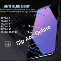 Temper Glass Anti Blue / Anti uv Redmi 6 7 8 9 9c 8A pro