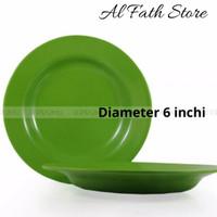 Piring makan melamin ukuran kecil diameter 6 inchi (15 cm)