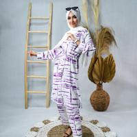 One Set Tunik Baju Celana One Set Tunik Wanita Setelan Tunik Muslim