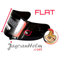 VISOR FLAT Helm KYT R10 RC Seven K2 Rider |Kaca MDS Victory| PIN Ready