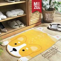 CHIRU INU Indoor House Mat Keset Bulu Rumah Kamar Anti-Slip 45x75cm - ORANGE CORGI