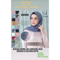 Hijab Segiempat Jilbab Pearl Cotton TR Pearl Lace Adeevha Scarf