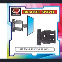 Bracket brecket breket tv lengan /bracket swivel up to 55inc - Hitam