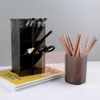 Holder Rak Pensil Pen Marker 4 Susun Rak Sendok Garpu Sumpit - Hitam