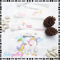 Tempat Pensil Transparan Pencil Case Gambar Unicorn Multifungsi - Model 1