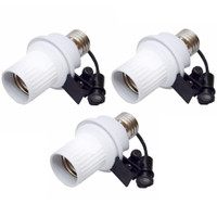 Bukal Paket 3 Buah Fitting Lampu Sensor Cahaya Otomatis - Putih