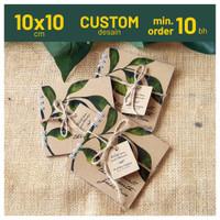 Custom Rustic Notebook 10x10 cm Notes Softcover Souvenir Pernikahan