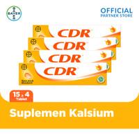 CDR Suplemen Kalsium Rasa Jeruk 15 Tablet x 4 unit
