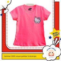 Baju/Kaos Anak Motif Hello Kitty 1 - 10 Tahun - Merah Muda