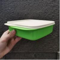 Tupperware Kotak Makan Bersekat Lolly Tup Original Warna Putih Hijau
