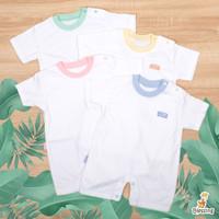 Blessing babywears-Jumper Pendek Bayi-SZ:0-6 bulan-White