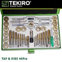 Tap and Dies Set 40pcs Alat Senai dan Tap Ulir Baut TEKIRO GT-TD1726