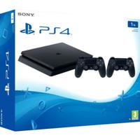 PS4 Slim 1 TB dengan 2 stik