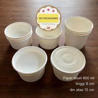 Paper Bowl 800 ml / Mangkok Kertas TANPA TUTUP (25 set)