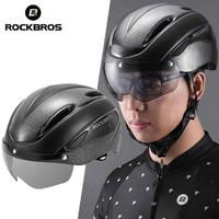 ROCKBROS Helm Sepeda dengan Goggles Visor Kaca Cycling Bike Helmet