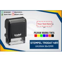 Stempel TRODAT 4911, stempel warna,nama,dokter,lunas,copy,asli dll