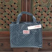 Cath Kidston Zipper Box Bag Mini Dots Pale Blue