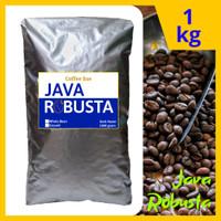 Kopi Java Robusta - DARK ROAST - 1 Kg Biji / bubuk - Es kopi susu
