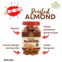 Roasted Natural Whole Raw Almond ( Kacang Almon Panggang ) - 180 gr