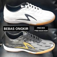 Sepatu Futsal Specs Invinity import quality termurah - Hitam, 38