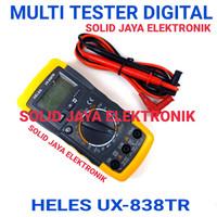 MULTI TESTER DIGITAL HELES UX-838TR MULTIMETER UX 838 TR UX 838TR ASLI