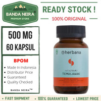 Herbana Temulawak 60 Kapsul 500 Mg