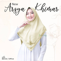 Arsya Office Khimar/Pet By Alyahijab Original/babydoll - Beige