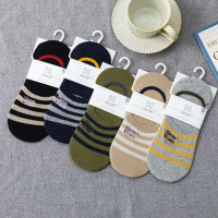 K3 Kaos Kaki Pria Low Cut Anti Slip Invisible Socks Men Murah Cotton
