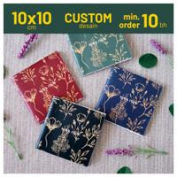 Custom Softcover Notes 10x10 cm Souvenir Notebook Jilid Staples