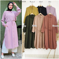 DR526 NEW Color ( MARLENE button accent daily long tunic). Bhn pr