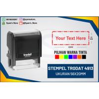 Stempel TRODAT 4913, stempel warna,nama,dokter,lunas,copy,asli dll
