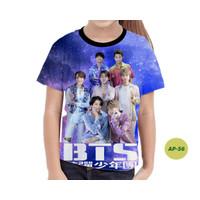 Baju Anak Perempuan BTS Series 3D Kaos Anak Murah #AP-56